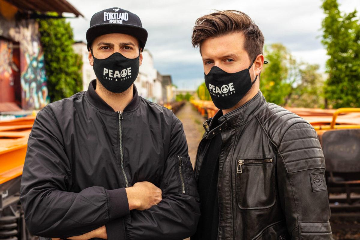 Fortland Festival Maske aus Baumwolle – Peace, Love & Unity!